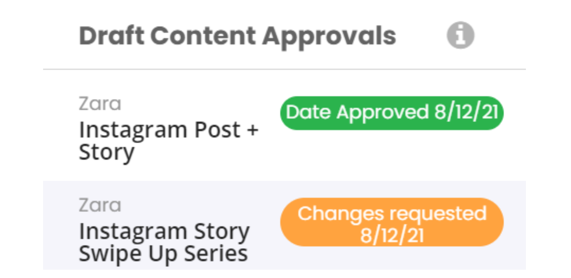 Draft Content Approvals