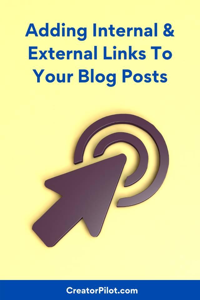 adding internal and external links