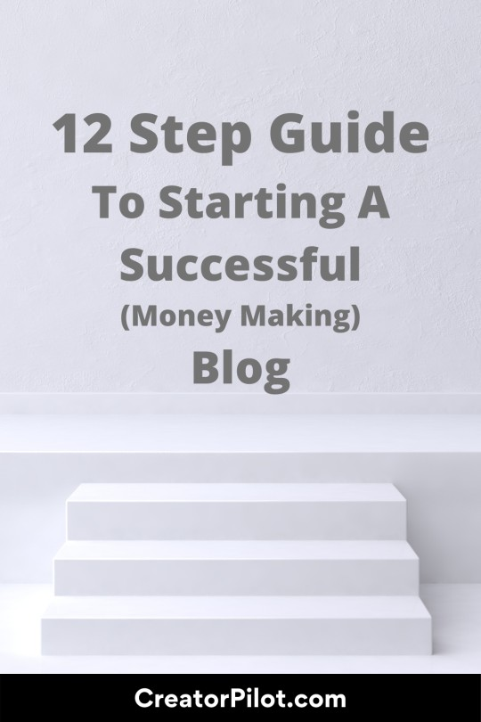 12 step guide to starting a successful money making blog