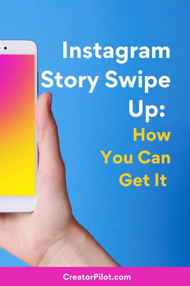 Instagram Story Swipe Up