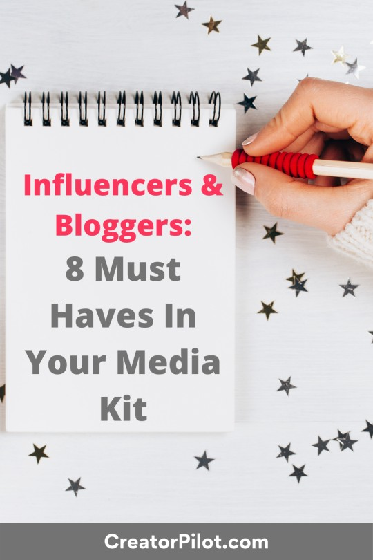 Influencers and Bloggers 8 must haves in your media kit
