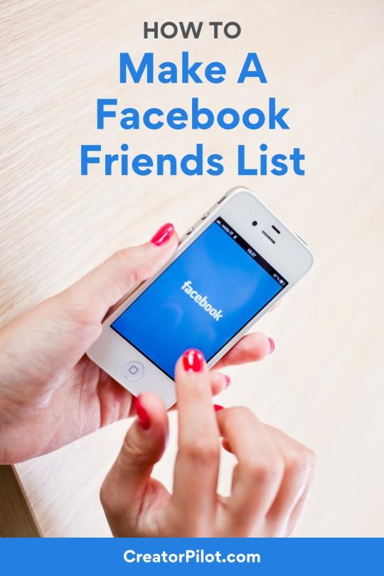 How to make a Facebook friends list